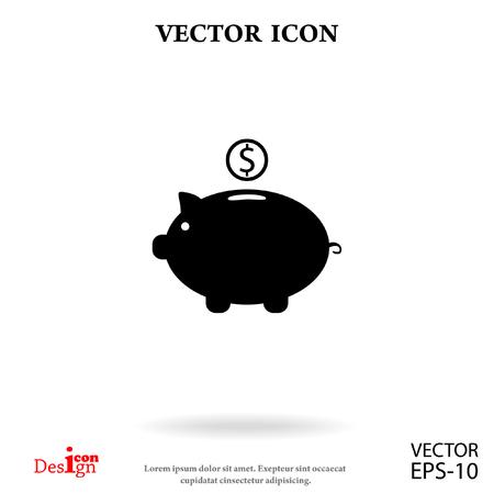 moneybox: moneybox vector icon Illustration