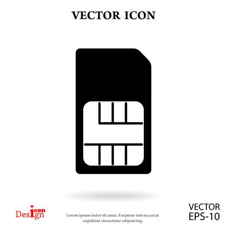 sim card vector icon Stock Vector - 66520877