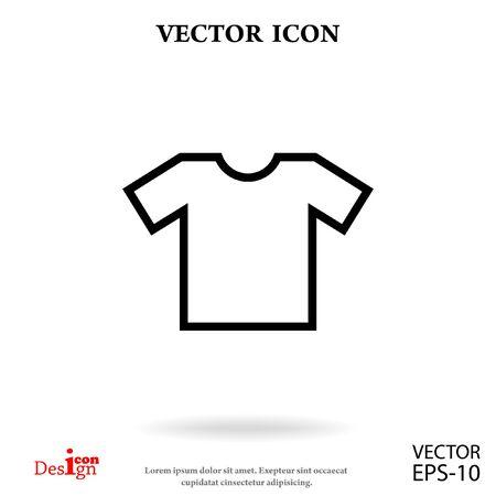 t-shirt vector icon Illustration