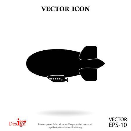 dirigible: dirigible vector icon Illustration