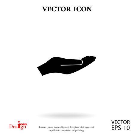 sosteniendo la Palma de iconos de vectores