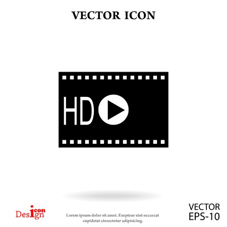 hd video vector icon