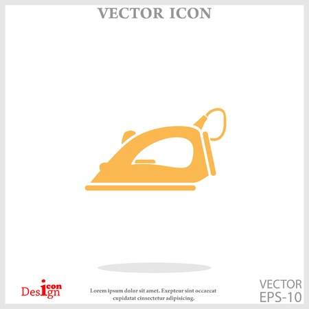 steam iron icon Illustration