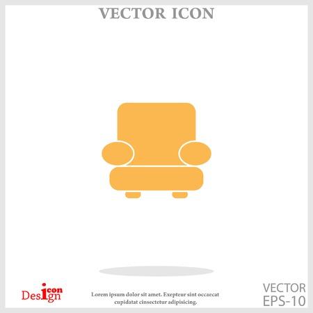 easy chair icon Illustration