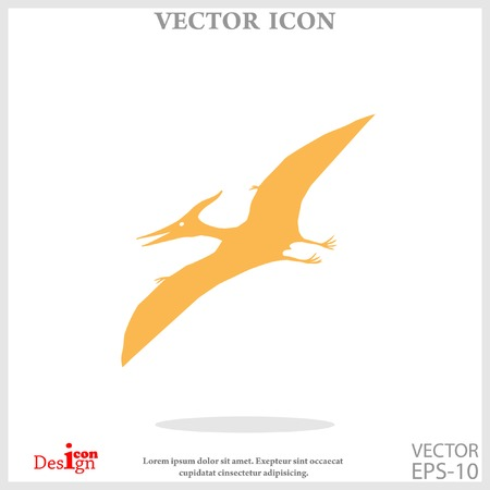 pterodactyl: pterodactyl icon Illustration