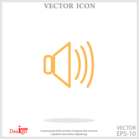 speaker vector icon Illustration