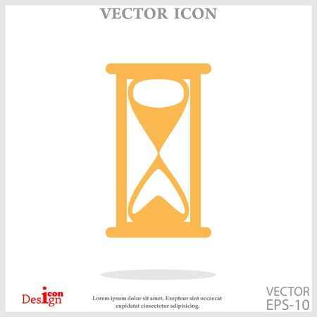 old time: hourglass icon