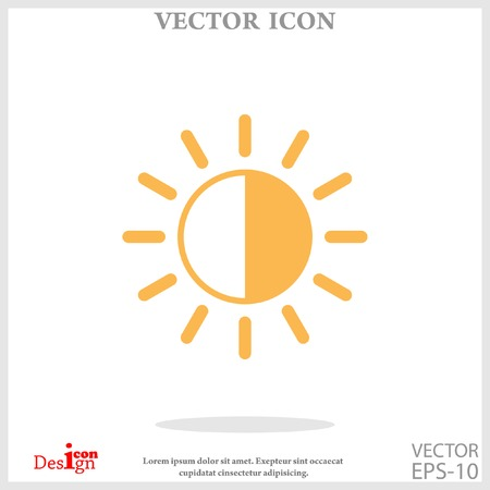 brightness vector icon Illustration
