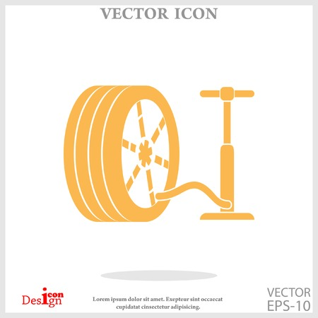 pump and tire icon