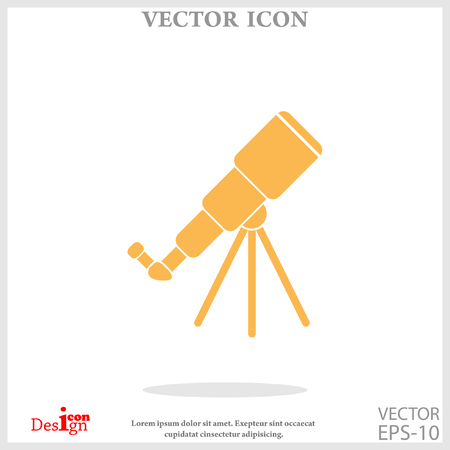 ocular: telescope icon Illustration