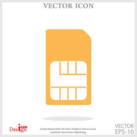 prepaid card: sim card icon Illustration