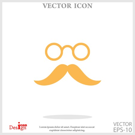 mustache and eyeglasses icon