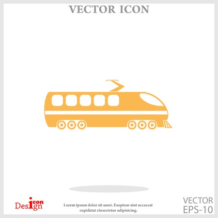 high speed train: modern train icon Illustration