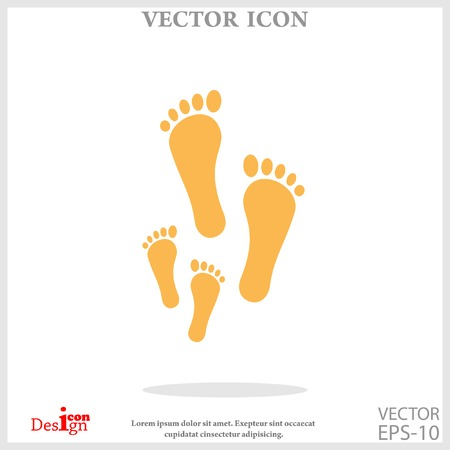 foot icon Illustration