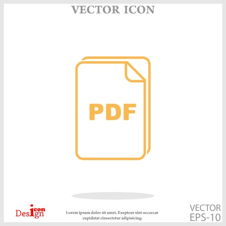 pdf: pdf icon Illustration