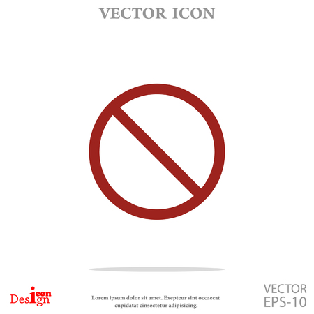 prohibit vector icon Illustration