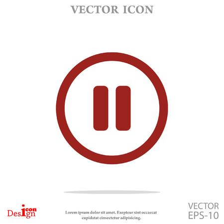 pauze knop vector icon Vector Illustratie