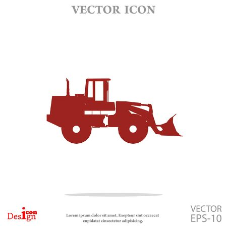 agronomy: traktor vector icon