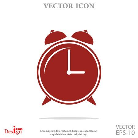 alarm clock vector icon Ilustrace