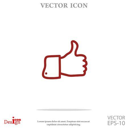 like vector icon Illustration