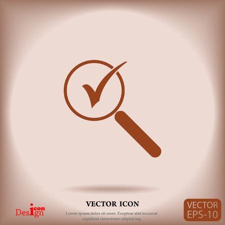 zoom vector icon Illustration