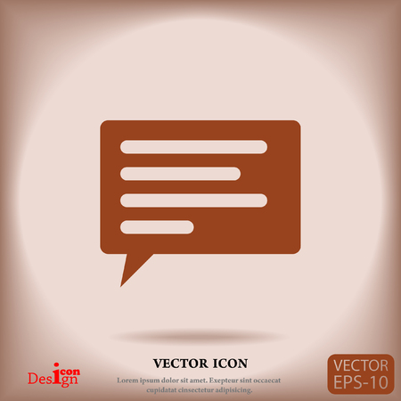 instant message: communication vector icon