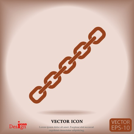 solid figure: chain vector icon Vettoriali