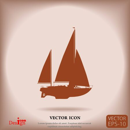luxury yacht vector icon