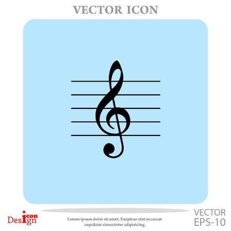 music key vector icon Illustration