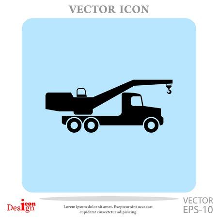 carretilla de mano: grúa del icono del vector