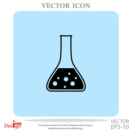 drug discovery: test tube vector icon