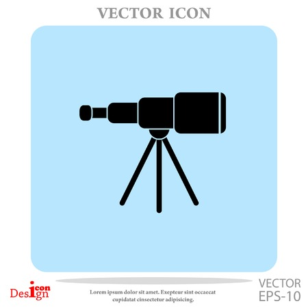 spyglass vector icon Illustration