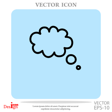 instant messaging: message vector icon Illustration