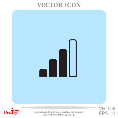 wi: radio signal level vector icon