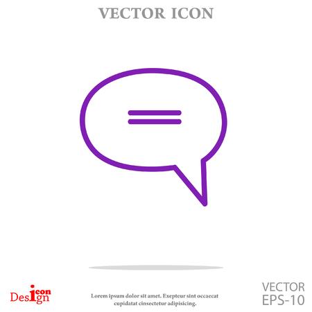 message vector icon Illustration