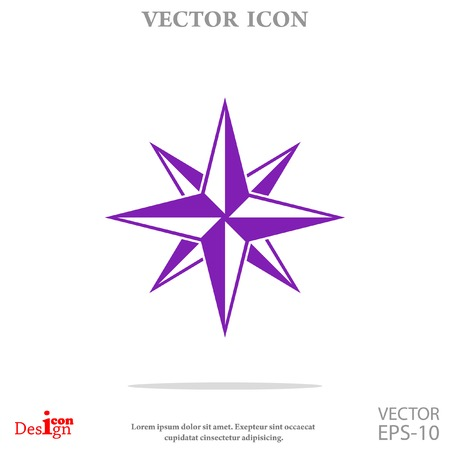 latitude: compass vector icon