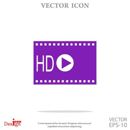 hdtv: hd video vector icon Illustration