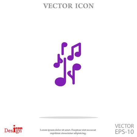 music vector icon Illustration