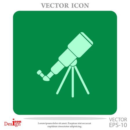 telescope vector icon Vector Illustration