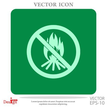 no bonfire vector icon