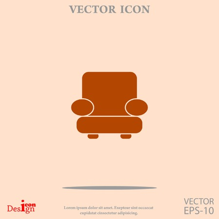 easy chair vector icon