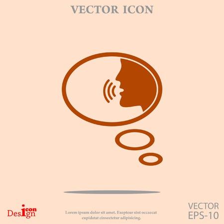 talking: talking vector icon