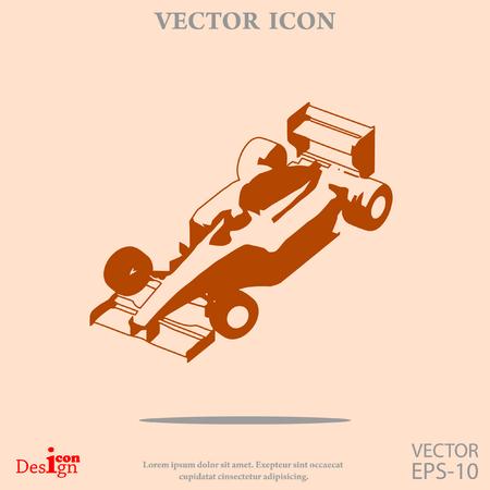 bolide: sport car vector icon