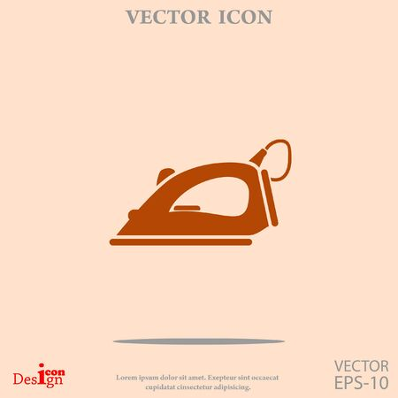 icône de vecteur de fer à vapeur