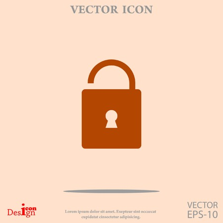 key hole: unlock vector icon