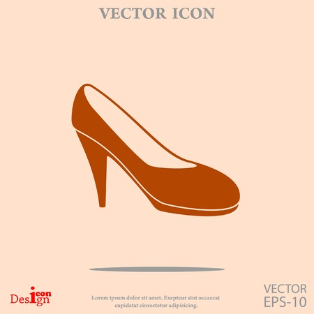 womens: womens shoe vector icon