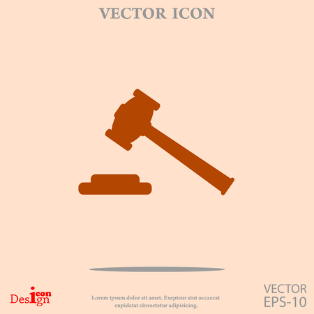 Hammer Richter Vektor-Symbol