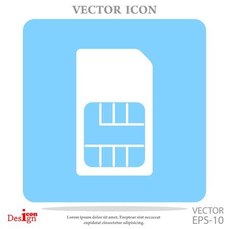 sim card vector icon Stock Vector - 69019829