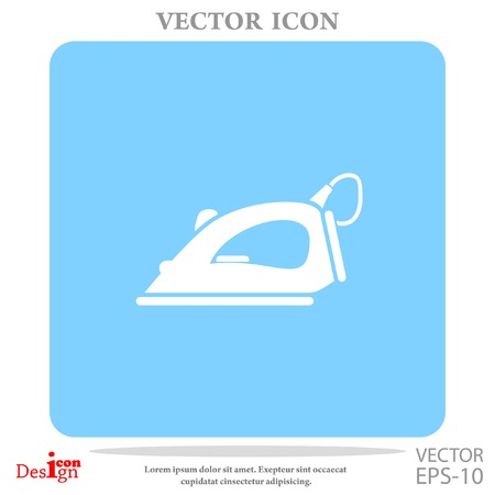 steam iron vector icon