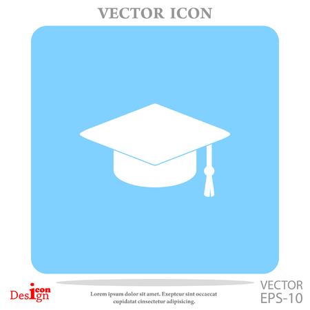 master degree: graduate vector icon